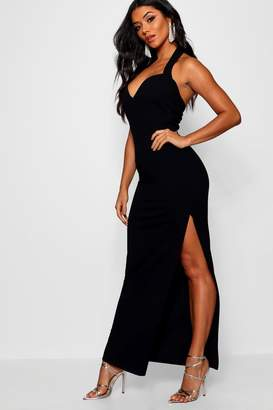 boohoo Halter Strap Sweetheart Maxi Dress