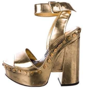 Tom Ford Metallic Platform Sandals Gold Metallic Platform Sandals