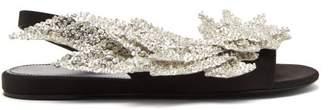 Balenciaga Slash Flat Sandals - Womens - Black