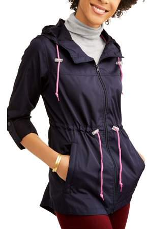 WEATHER TAMER Weather Tamer Missy Hooded Packable Anorak--Zips Up Into A Small Pouch