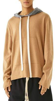 Loewe Men's Oversized Cashmere Knit Pullover Hoodie