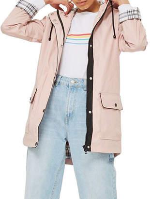 Topshop PETITE Annie Rain Mac Coat