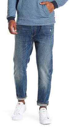 Vince Cropped Light Distressed Jeans