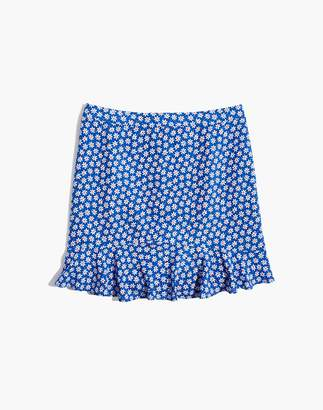 Madewell Ruffle-Edge Skirt in Mini Daisy
