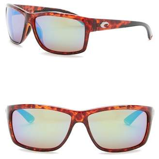 Costa del Mar Mag Bay Polarized 63mm Rectangular Sunglasses