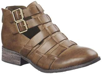 Antelope Leather Buckle Bootie