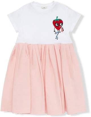 Fendi pleated A-line dress