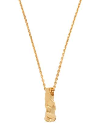 ALL BLUES Rauk carved gold-plated necklace