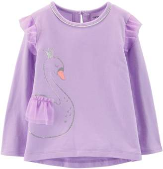 Carter's Toddler Girl Glitter Flutter Sleeve Top