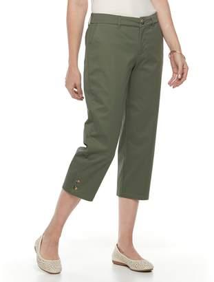 Croft & Barrow Petite Essential Twill Capri Pants