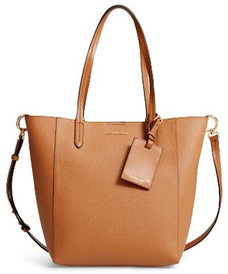 Michael Michael Kors Penny Large Saffiano Convertible Leather Tote - Brown $248 thestylecure.com