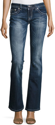 Miss Me Boot-Cut Embellished Pocket Jeans, Dark 417 $79 thestylecure.com