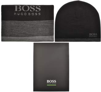 5f3e55bc476 BOSS Athleisure Ribbed Knit Scarf And Hat Gift Set