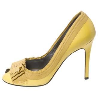Lanvin Khaki Leather Heels