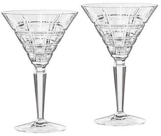 Waterford Wedgwood Marquis Crosby Barware Martini Pair