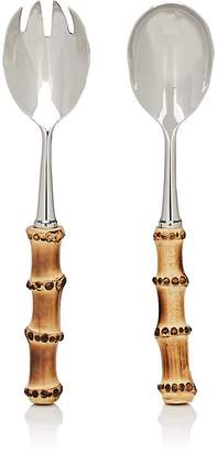 Barneys New York Bamboo Stainless Steel 2-Piece Salad Serving Set