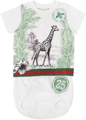 Gucci Cotton Jersey T-Shirt & Diaper Cover