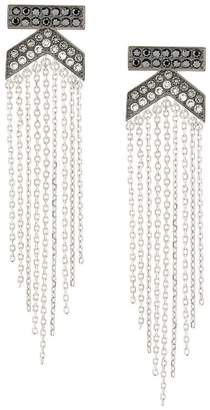 Karl Lagerfeld K Fringe Drama earrings
