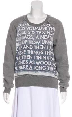 Each X Other Graphic Print Silk-Paneled Sweatshirt