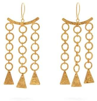 Pippa Small Turquoise Mountain - Zeeb Triple Drop 18kt Gold Plated Earrings - Womens - Gold