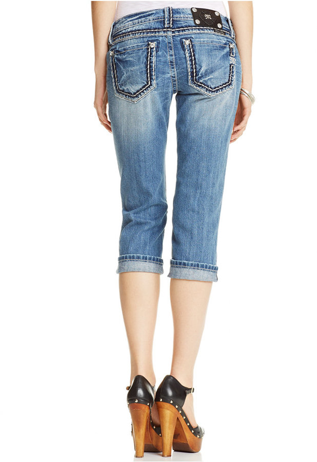 Miss Me Distressed Capri Jeans