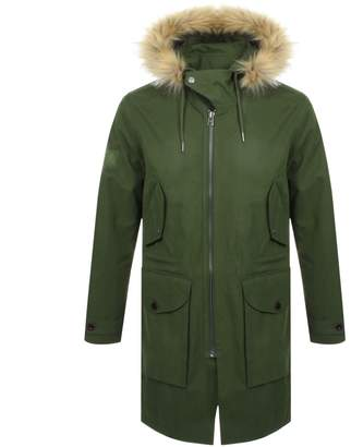 154a6f96753402 Pretty Green Hooded Parka Jacket Green