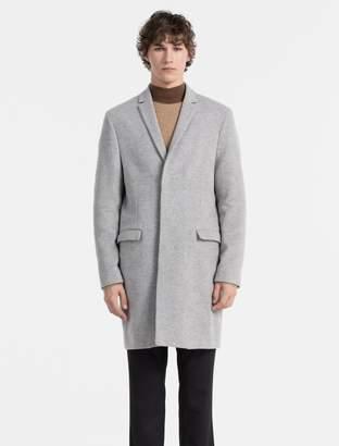 Calvin Klein slim fit melange wool coat