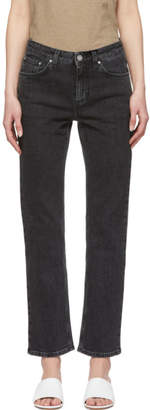 Totême Grey Washed Straight Jeans