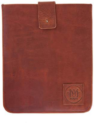 MAHI Leather - Leather Stockholm iPad Case Sleeve in Vintage Brown with Brown Stitching
