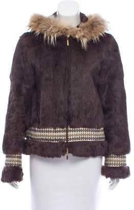 Tory Burch Hooded Fur Jacket