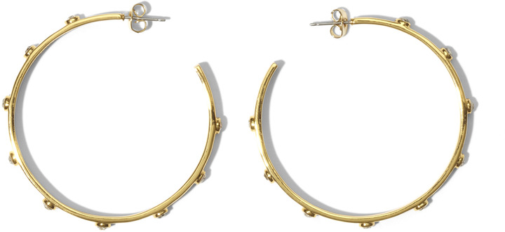 Vince Camuto Gold Stone Hoops