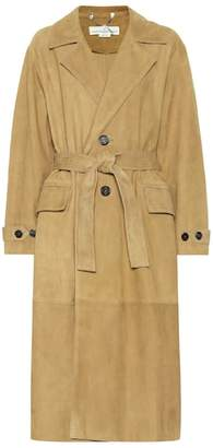 Golden Goose Belted suede coat
