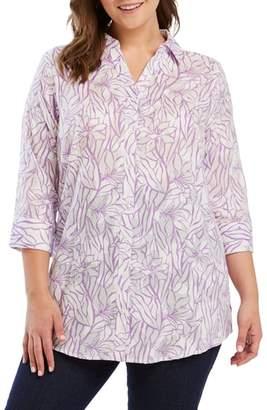 Foxcroft Faith Floral Jacquard Shirt