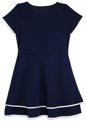 Aqua Girls' Tiered Contrast-Trim Dress, Big Kid - 100% Exclusive