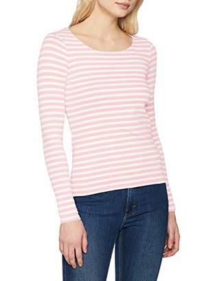 Gant Women's Striped 1X1 Rib LS T-Shirt Regular Fit Striped Crew Neck Long Sleeve T - Shirt,8 (Manufacturer Size: X-Small)