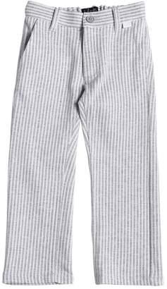 Il Gufo Striped Jersey Chino Pants
