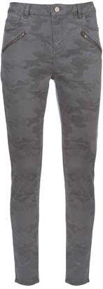 Mint Velvet Westwood Grey Camo Biker Jeans