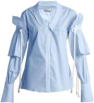 Palmer Harding PALMER/HARDING Removable-ruffle long-sleeved shirt