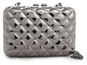 MANGO TOUCH - Quilted metal box clutch