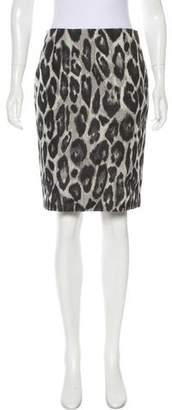Lanvin Leopard Print Knee-Length Skirt