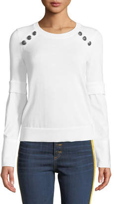 Veronica Beard Roscoe Twofer Sweater with Button Detail