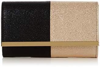 SAM. Swankyswans Womens Glitter Color Block Clutch