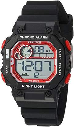 Armitron Sport Women's 45/7089RBK Red Accented Digital Chronograph Black Silicone Strap Watch