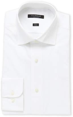 Isaac Mizrahi White Stretch Slim Fit Dress Shirt