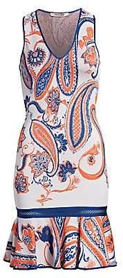 Roberto Cavalli Women's Paisley Peplum Hem Dress