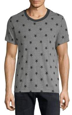 Alternative Star-Print Drop Neck Tee