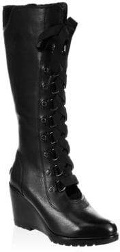 Sorel After Hour Lace-Up Tall Boots
