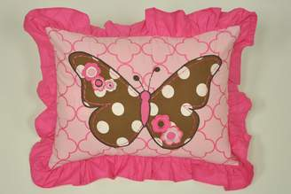 Bacati Butterflies Pink/Chocolate Decorative Pillow