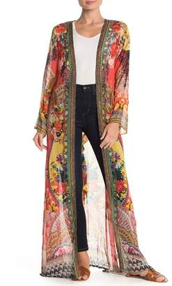 Shahida Parides Embellished Long Sleeve Maxi Duster