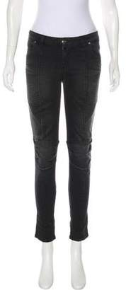 Pierre Balmain Textured Mid-Rise Jeans w/ Tags